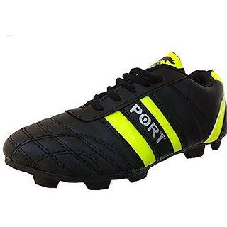 Port Unisex Spectra Black CLR PU Football Shoes