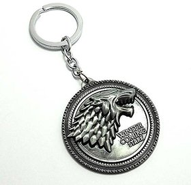 S4D Silver Game Of Thrones Winter Is Coming Keyring