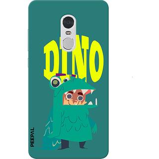 PEEPAL Note 4 Designer & Printed Case Cover 3D Printing Dino Design