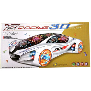 Yj racing 3d special light battery operated bump and go car