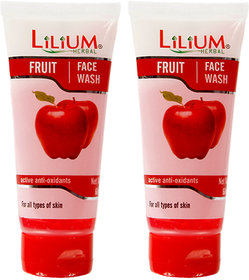 Lilium Fruit Face Wash 60ml Pack of 2
