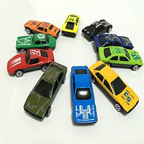 Kuhu Creations Classical Toys Cars Vehicle Gift Pack. (10 Units, Mix Multicolor)