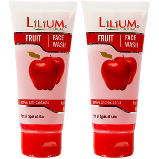 Lilium Fruit Face Wash 60ml Pack of 2