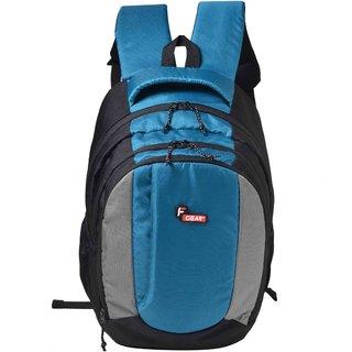 F Gear Partner 34 Liters Laptop Backpack Sch Bag(Black Blue)
