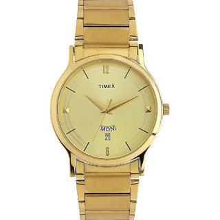 Timex TI000R421 Classics Analog Gold Dial Men's Watch