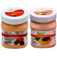 bio care papaya scrub and papaya cream combo(500ML EACH)