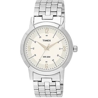 Timex Classics Analog White Dial Mens Watch - TI000T10500
