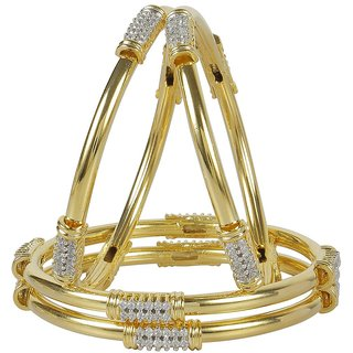 MUCH MORE White Gold Plated Alloy Bangles For Women