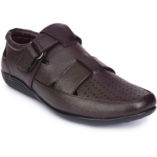 Action Shoes Brown Slipons Casual Shoes