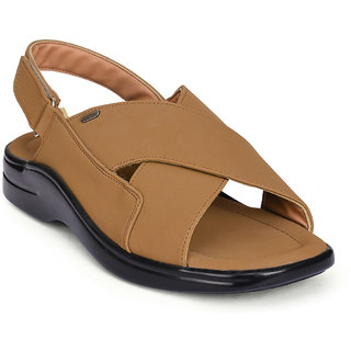 Action Shoes Tan Velcro Sandals