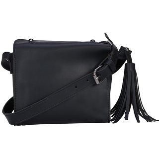 dbbf53c7a161 Buy Old Tree Black Plain Sling Bag Online - Get 10% Off