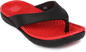 Action Shoes Women Eva Clogs Slippers 657-Black-Red