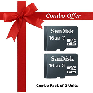 Sandisk 16 GB memory card class 4 Pack of 2