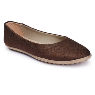 2687697b35 Buy Action Shoes Brown Fabric Ballerinas Online - Get 10% Off