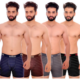 Zotic Men's Trunk'H' Underwear-Pack Of 4