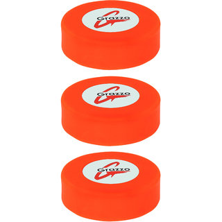 Grazzo Ice Hockey Pucks, Standard 3 inch Size, Excellent quality smooth surface, Pack of 3