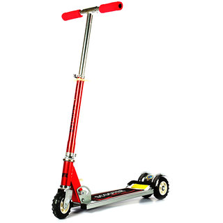 Kids Scooter With Tractor Wheels - Red