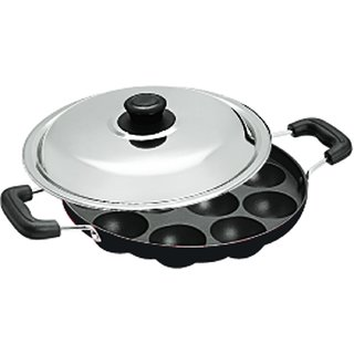 Upahar 12 Cavity Appam Patra With S.S. Lid  Two Side Handle