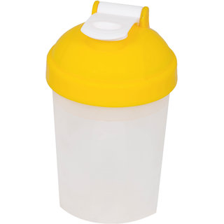 Grazzo Sports Shaker Mixer Bottle for Gym Yoga Running Camping, Leak Proof Secure Top, Single Partition