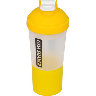 Grazzo Sports Shaker Mixer Bottle for Gym Yoga Running Camping, Leak Proof Secure Top, Double Partition