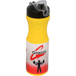 Grazzo 750ml Sipper Bottle for Gym Yoga Running Camping School Picnic, Leak Proof Secure Top