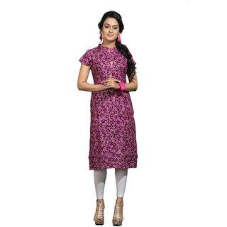 Vedika Creations Designer Cotton & Rayon Pink Kurti