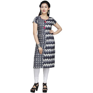 Vedika Creations Designer Cotton & Rayon Grey Kurti