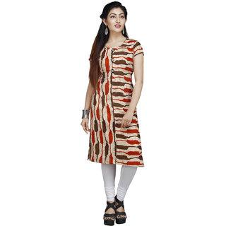 Vedika Creations Cotton & Rayon Multi Kurta Kurti