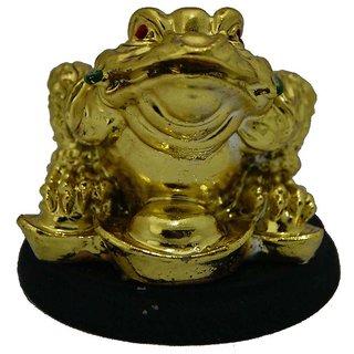 Vastu Fengshui Good Fortune Money Frog Showpiece - 5 c