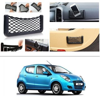 AutoStark Storage Bag Box Car Seat Side Back Net Phone Holder Pocket Organizer For Maruti Suzuki A-Star