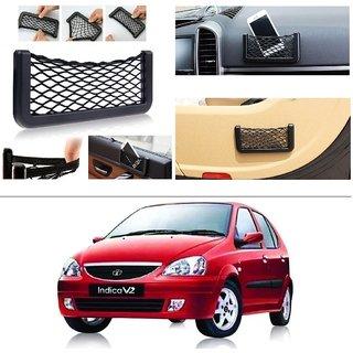 AutoStark Storage Bag Box Car Seat Side Back Net Phone Holder Pocket Organizer For Tata Indica V2 Xeta