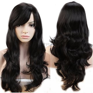 Buy PEMA Full Head Long Stylish Hair Wigs for Girls   Women In Very Fine  Quality in Natural Black Color Online - Get 44% Off 697362ff6