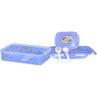Lock  Seal 800ml + 125ml Plastic Lunch Tiffin Box