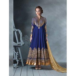 Thankar Latest Designer Blue Long Sleeve Anarkali Suit
