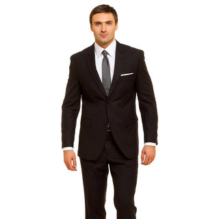 Siyaram Black Poly Blend Unstiched Suit Piece