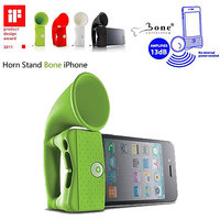 Gadget Hero's Bone Horn Stand Portable Un-Powered Speaker Amplifier Upto 13db For IPhone 4 4S GREEN COLOR