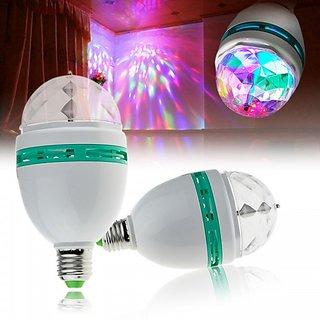 LED Full Colour 360 Rotating Lamp LED Spot Light Lamp For Party Dance Disco Decoration