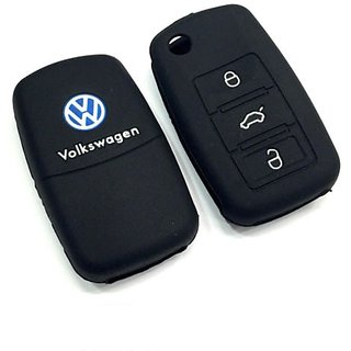Harman Silicone Car Key Cover For Volkswagen Polo-Black
