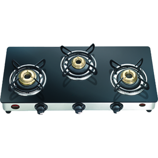 Manali 3 Burner Gas Stove GLASS AVAILABLE IN MANY DESIGNS