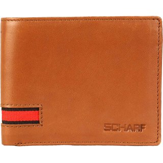Scharf Explore All Avenues Genuine Leather Bi-Fold Wallet for Men AEPMWA05