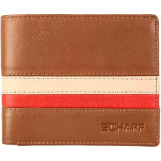Scharf Golden Handshake Genuine Leather Bi-Fold Wallet for Men AEPMWA08