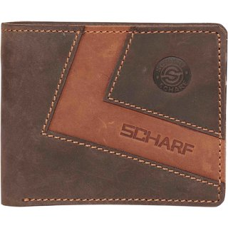 Scharf Flip Cut Genuine Leather Bi-fold Wallet for Men MWA42
