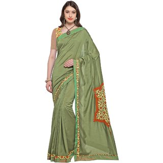 Aagaman Green  Georgette Casual  Printed Saree
