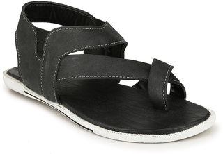Drake Men's Black Valcro Sandals