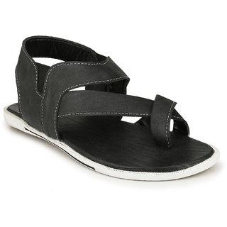 Drake Men's Black Valcro Sandals