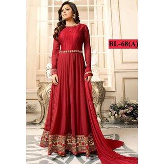 Salwar Soul Womens Latest Beautiful Red Heavy Designer  Party Wear Anarkali Suit For Womens  Girls