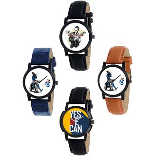 TOS-2+3+4+6 Printed Dial Analogue Watches (Pack of 4)