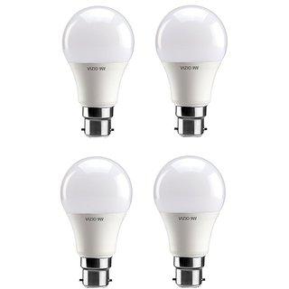 Vizio 9 Watt  Premium Led Bulbs 900 lumens pack of 4 with 1 year warranty