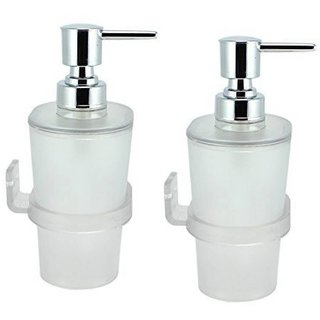 Prestige Oval Soap Dispenser 500 ml Lotion Conditioner Soap Shampoo Dispenser (Material Acrylic Unbreakable)- Pack of 2