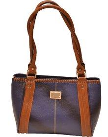 ZINT GENUINE LEATHER BLUE HANDMADE SHOULDER BAG TOTE BAG SHOPPING BAG PURSE WOMEN'S HANDBAG
